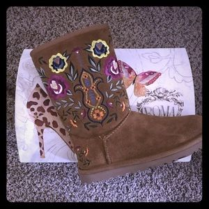 Authentic Embroidered Ugg boots